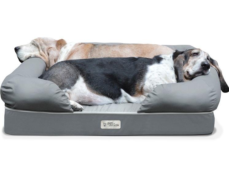 Petfusion Ultimate Pet cama Premium Edition con cubiertas de espuma de memoria sólida